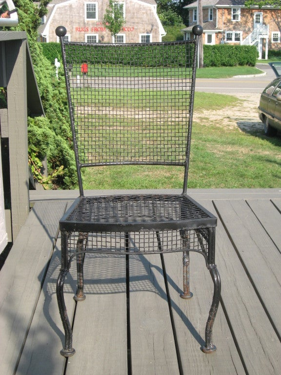 Midcentury Set of Four Russell Woodard Chairs In Excellent Condition For Sale In Water Mill, NY