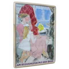 Original Swiss Train Poster by M. Barroud