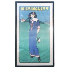 Mistinguett Original Poster by Daniel De Losques