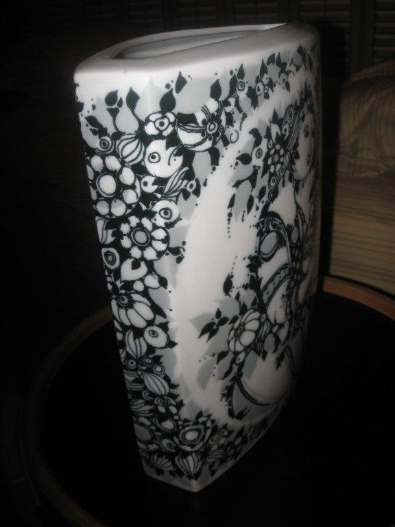 German Mid-Century Porcelain Vase by Bjorn Winblad for Rosenthal For Sale