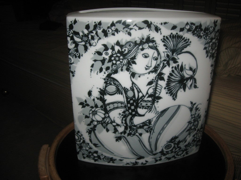 Mid-20th Century Mid-Century Porcelain Vase by Bjorn Winblad for Rosenthal For Sale