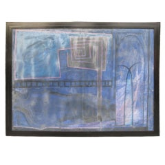 Abstract  Monumental Painting by Livne