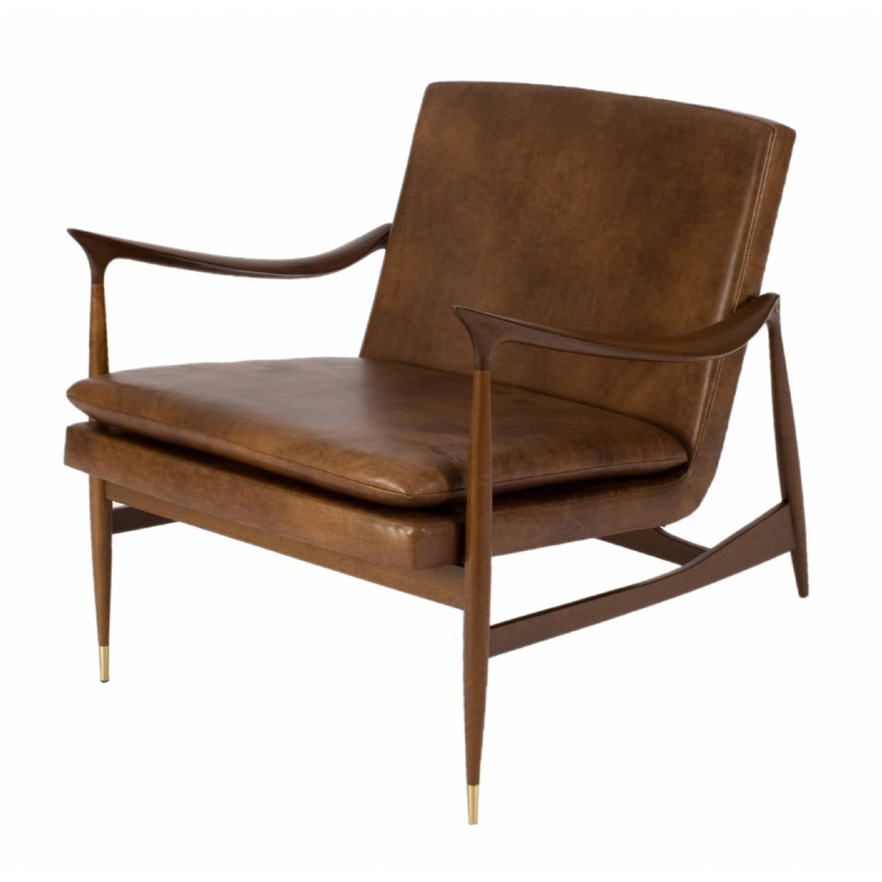 Brazilian Dinamarquesa Leather Armchair by Jorge Zalszupin For Sale