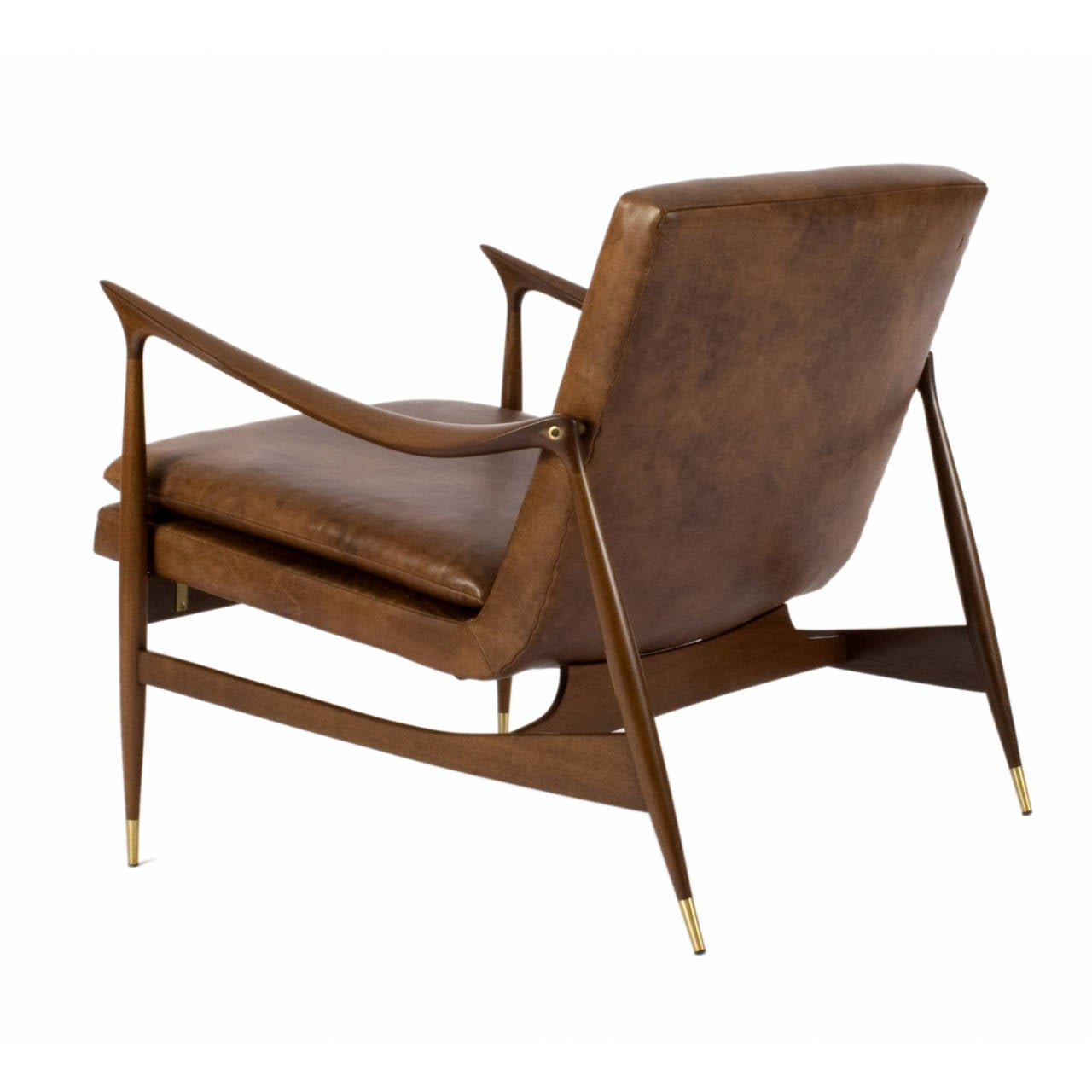Dinamarquesa Leather Armchair by Jorge Zalszupin In Excellent Condition For Sale In New York, NY