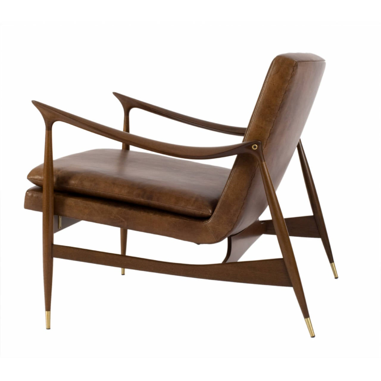 Contemporary Dinamarquesa Leather Armchair by Jorge Zalszupin For Sale
