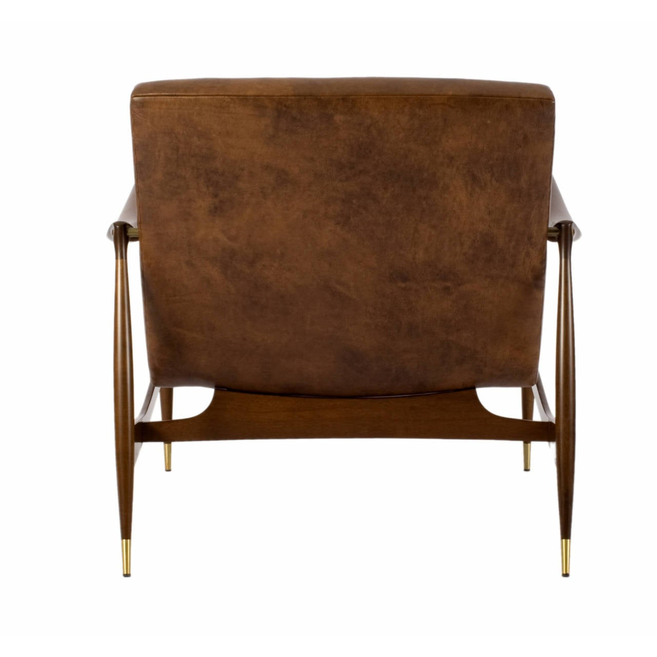 Dinamarquesa Leather Armchair by Jorge Zalszupin For Sale 1