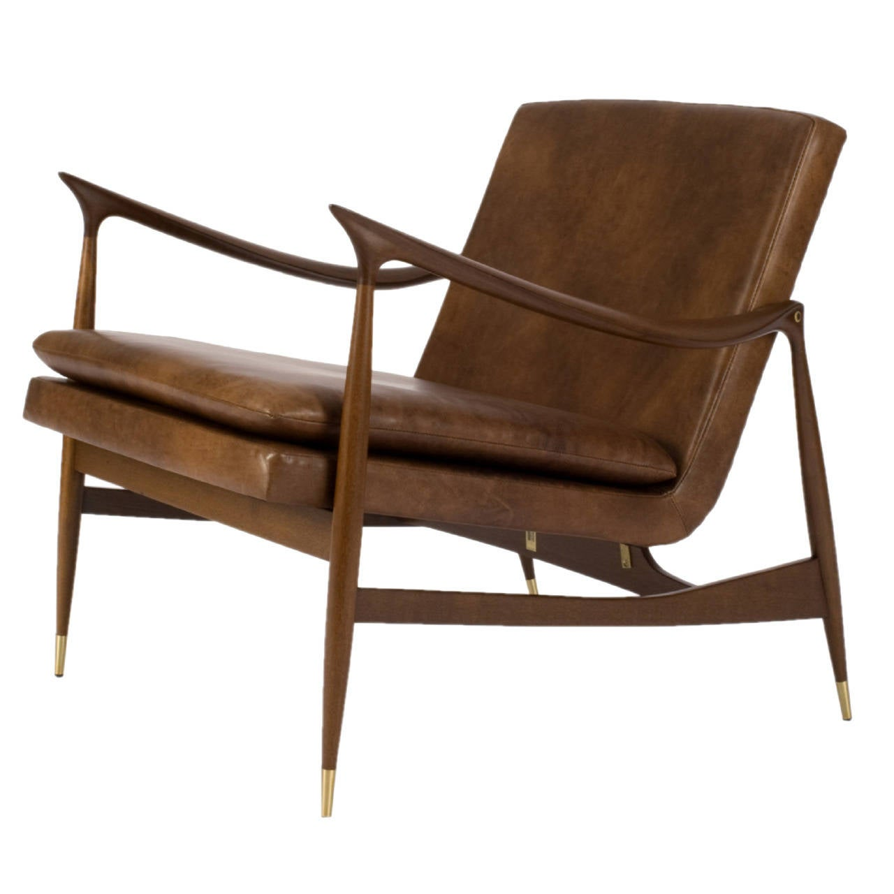 Dinamarquesa Leather Armchair by Jorge Zalszupin For Sale