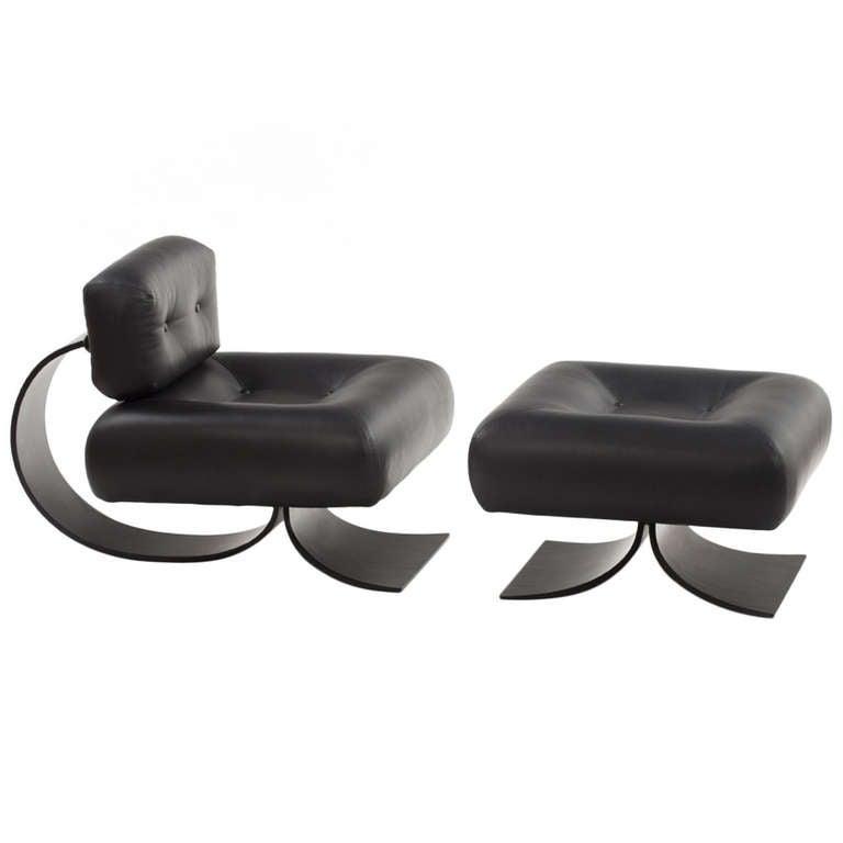 Alta Chair and Ottoman by Oscar Niemeyer 1