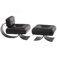 Alta Chair and Ottoman by Oscar Niemeyer
