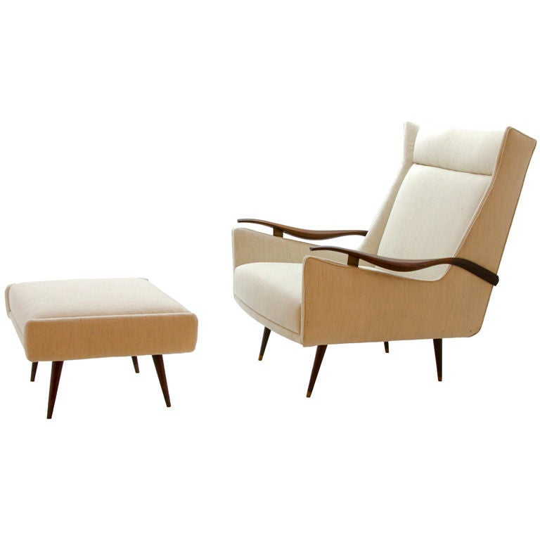 Armchair and ottoman by scapinelli at 1stdibs for Armchair with ottoman