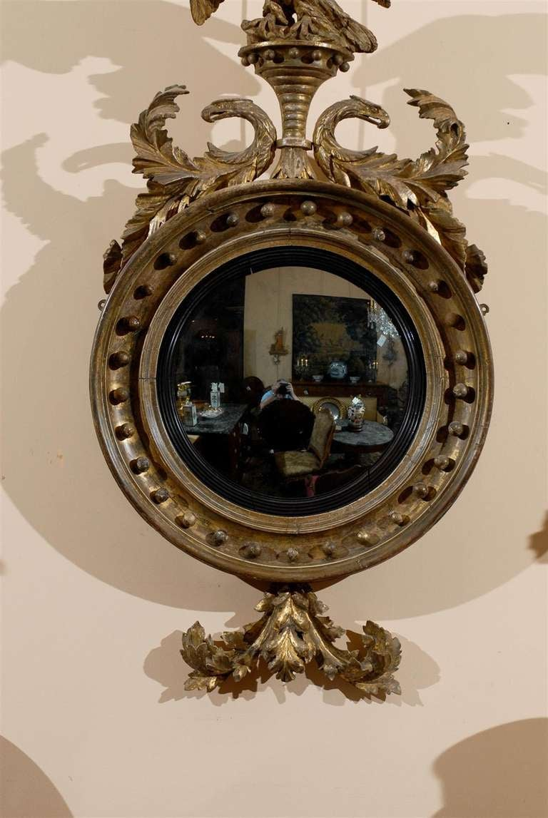 A Fine Early 19th Century English Bull S Eye Mirror With
