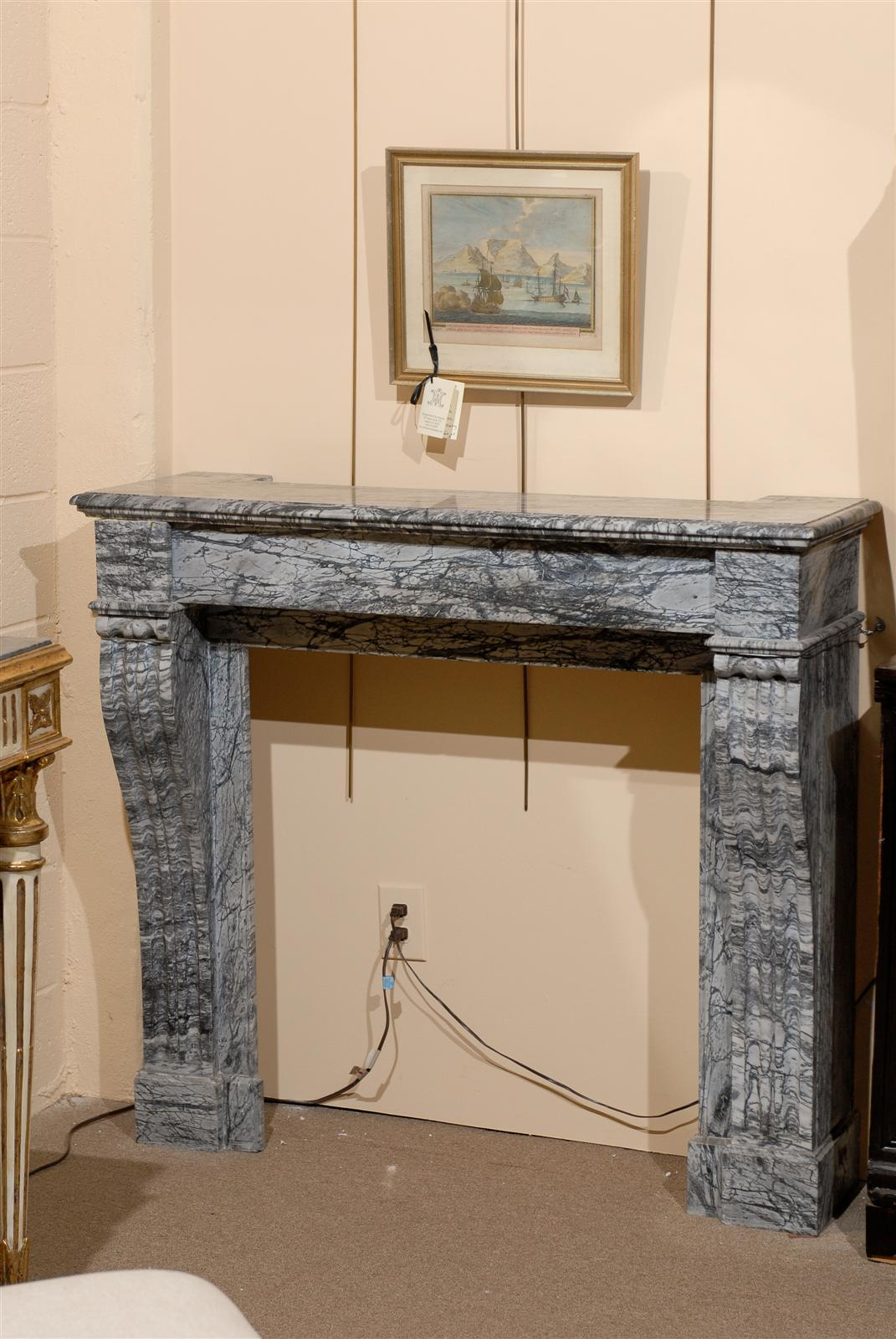 19th century french grey marble mantel for sale at 1stdibs