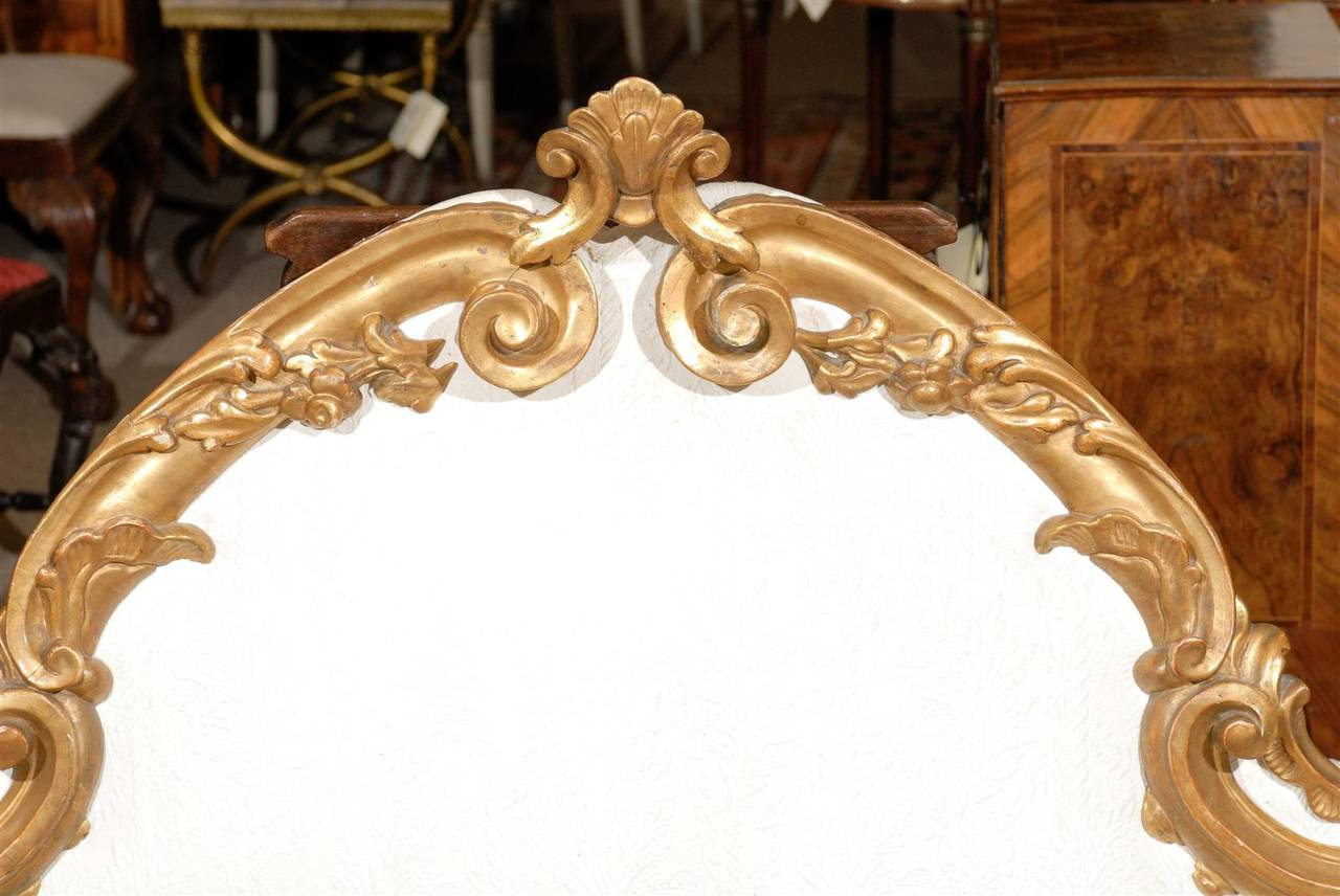 Italian rococo style giltwood and upholstered headboard at for What is the other name for the rococo style