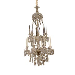 Very Fine Parker & Perry Crystal Arm Chandelier, ca. 1820