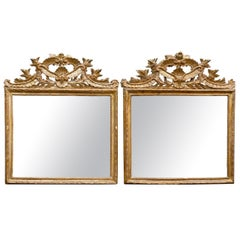 Pair of 19th Century Italian Neoclassical Giltwood Mirrors