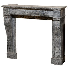 19th Century French Grey Marble Mantel
