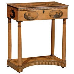 Early 19th Century French Directoire Penwork Console Table