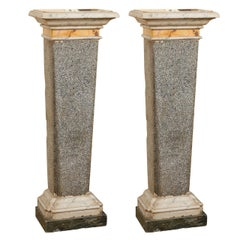 Pair of Late 18th Century Italian Neoclassical Marble Pedestals