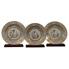 Rare Set of Meissen-inspired Chinese Export Chargers, c. 1740