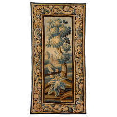 Aubusson Verdure Tapestry with Foliate Border, c. 1750