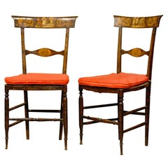 Pair of finely painted side chairs from Tuscany ca. 1800