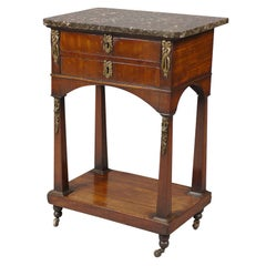 French Chiffonniere in Walnut with Marble Top, c. 1820
