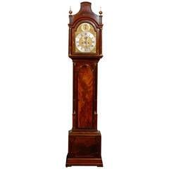 18th Century English Tall Case Mahogany Clock