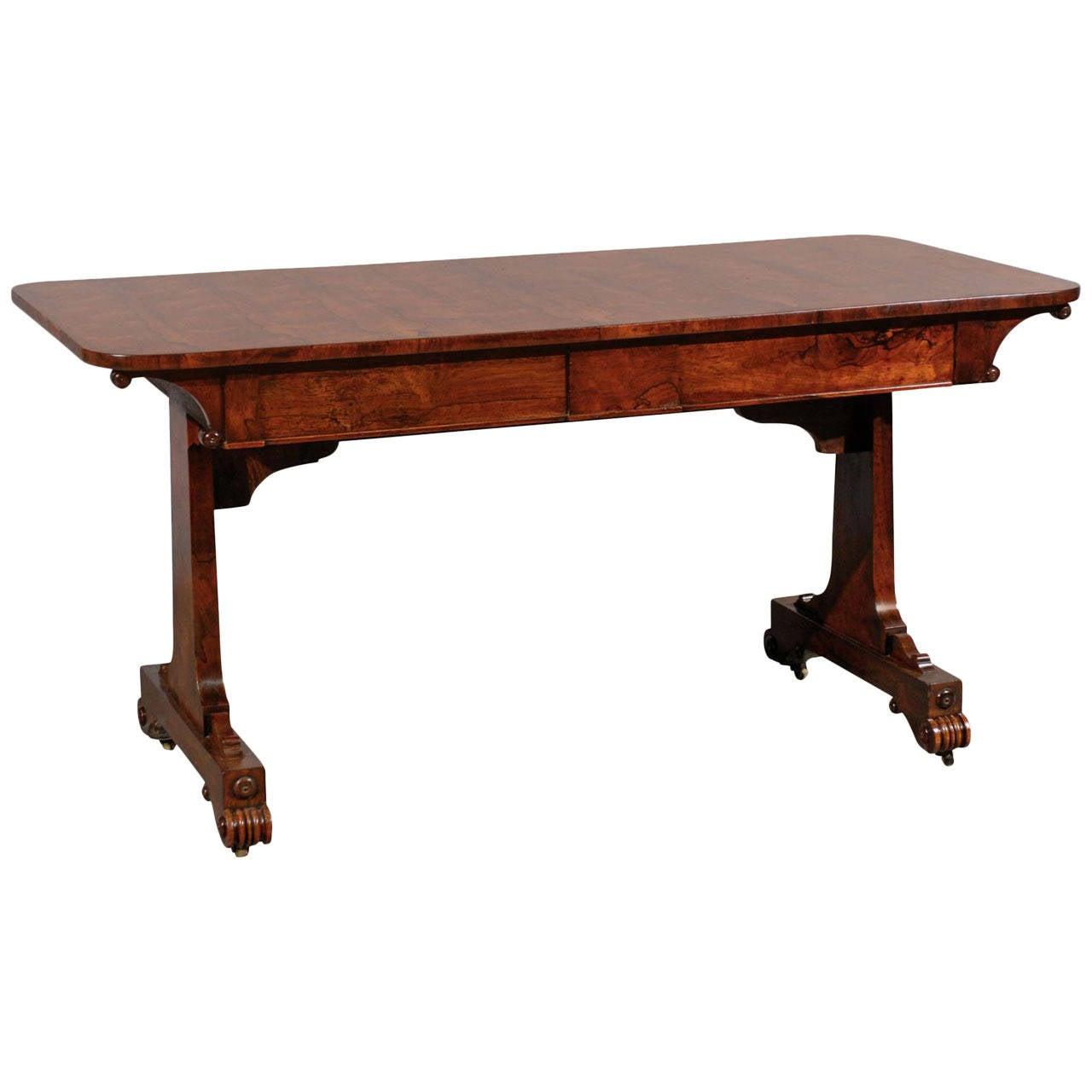 19th Century English Rosewood Sofa or Writing Table