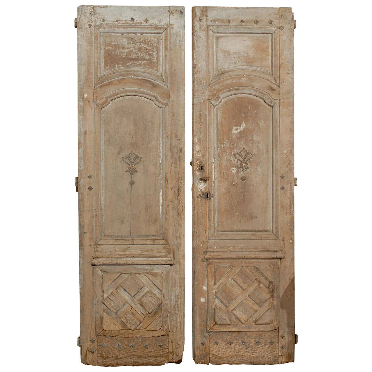 Pair of large 18th century french doors for sale at 1stdibs for Large french doors