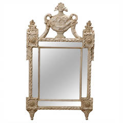 Large 19th Century Italian Painted Neoclassical Style Mirror