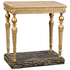 Late 18th Century Swedish Neoclassical Giltwood Console