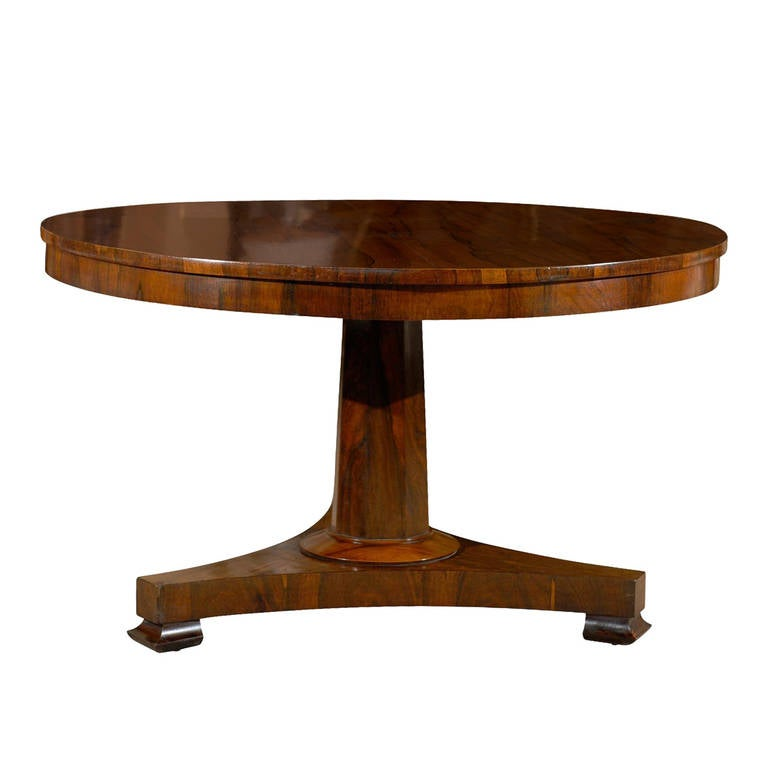 English rosewood center table with pedestal base at 1stdibs for England table