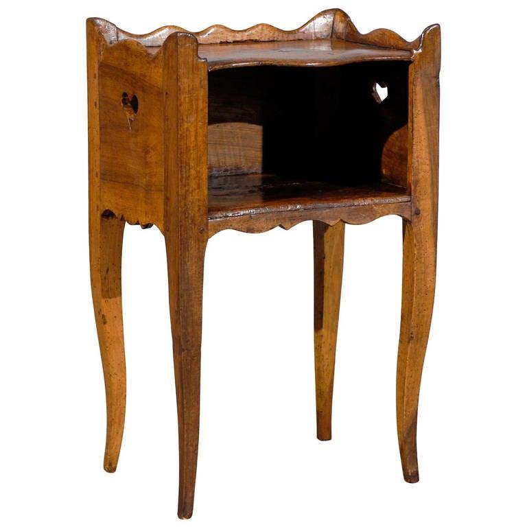 18th century french louis xv walnut chevet for sale at 1stdibs - Table de chevet louis xv ...
