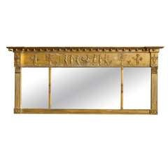 Neoclassical Style Gilt Overmantel Mirror, Late 19th Century