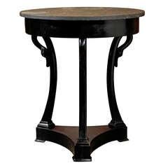 Round Ebonized Table