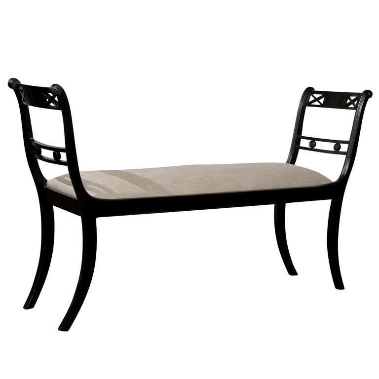 english upholstered bench with arms at 1stdibs