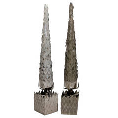 Pair of French Zinc Trees