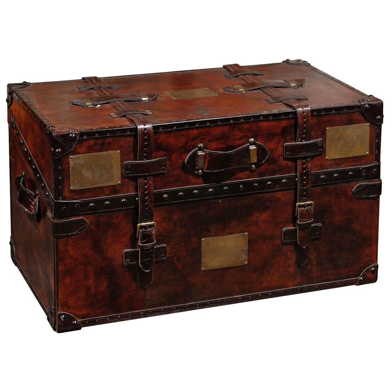 %name Black Steamer Trunk Coffee Table