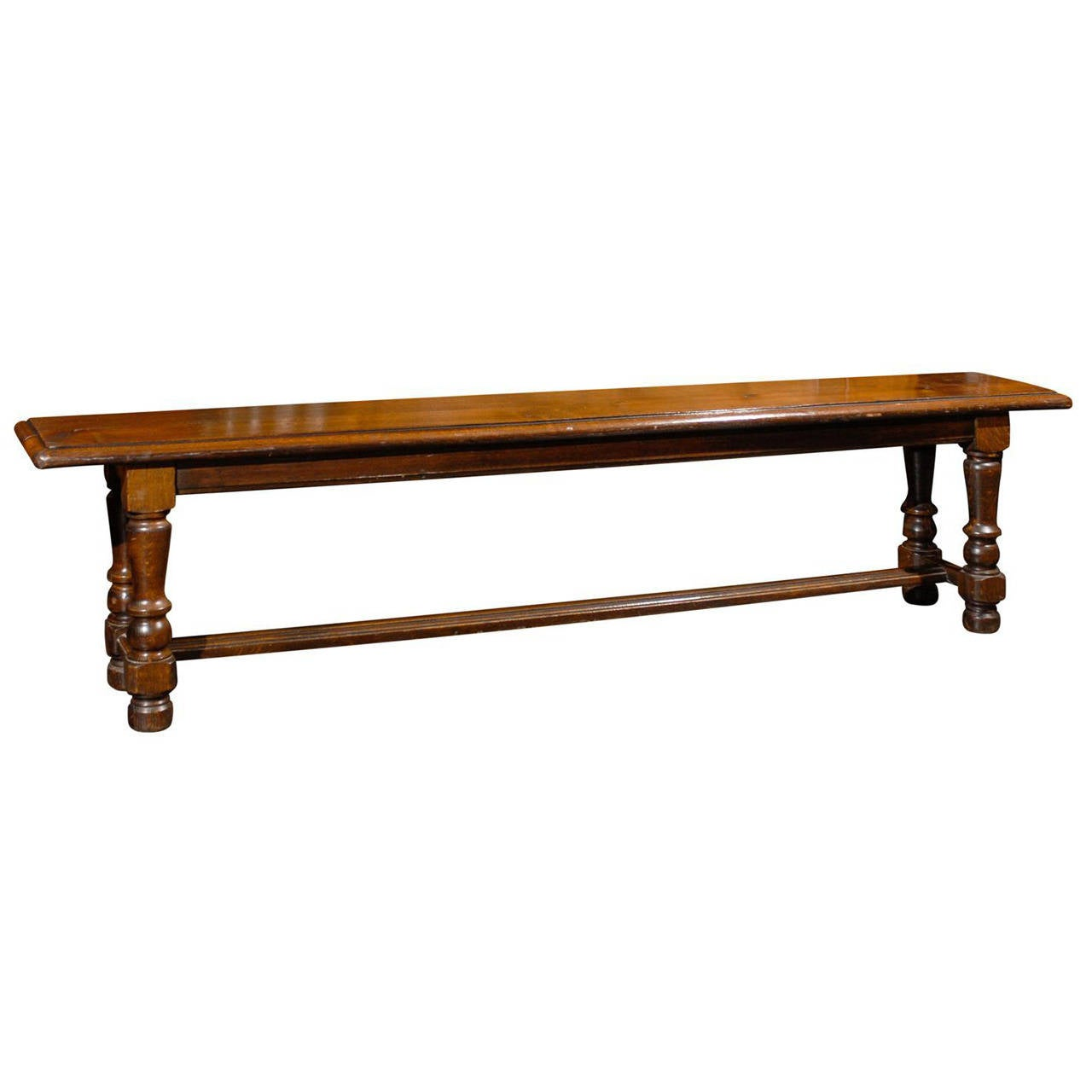 Long Wooden Bench At 1stdibs