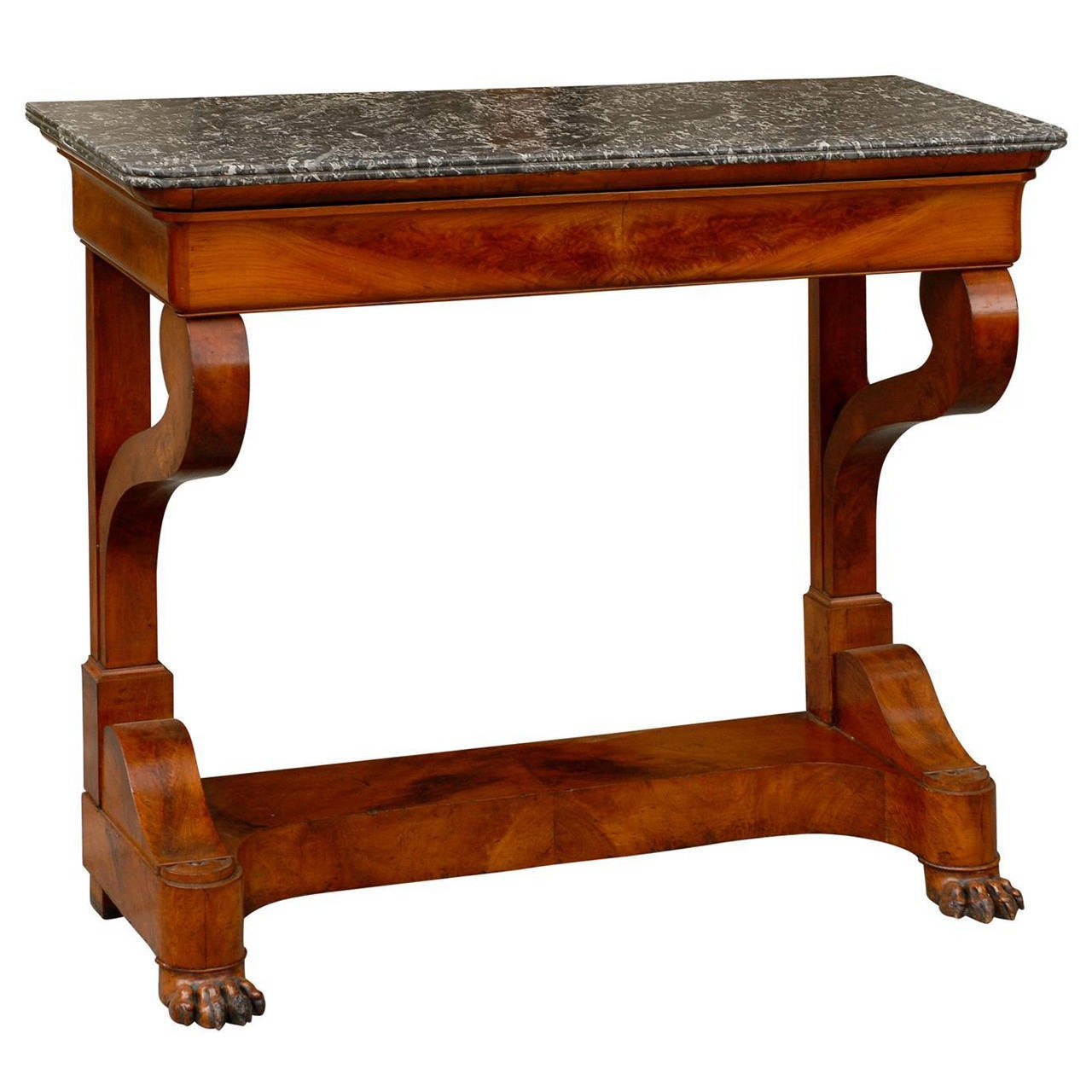 French Marble Top Console Table At 1stdibs