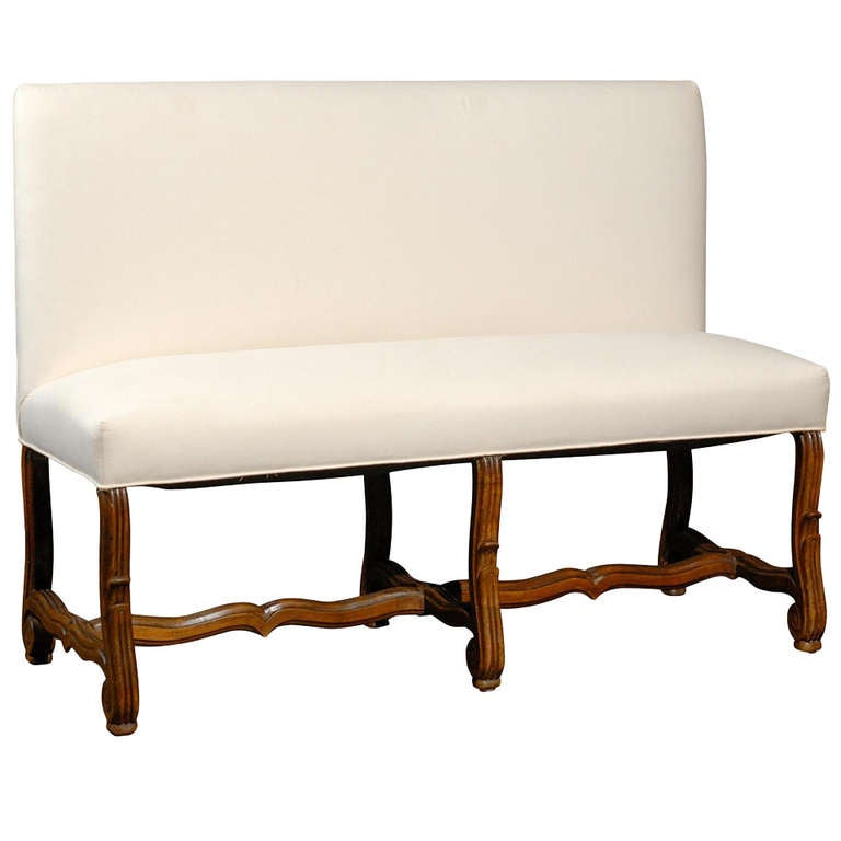 Upholstered Bench Settee With Back At 1stdibs