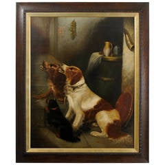 Large Oil Painting of Dogs