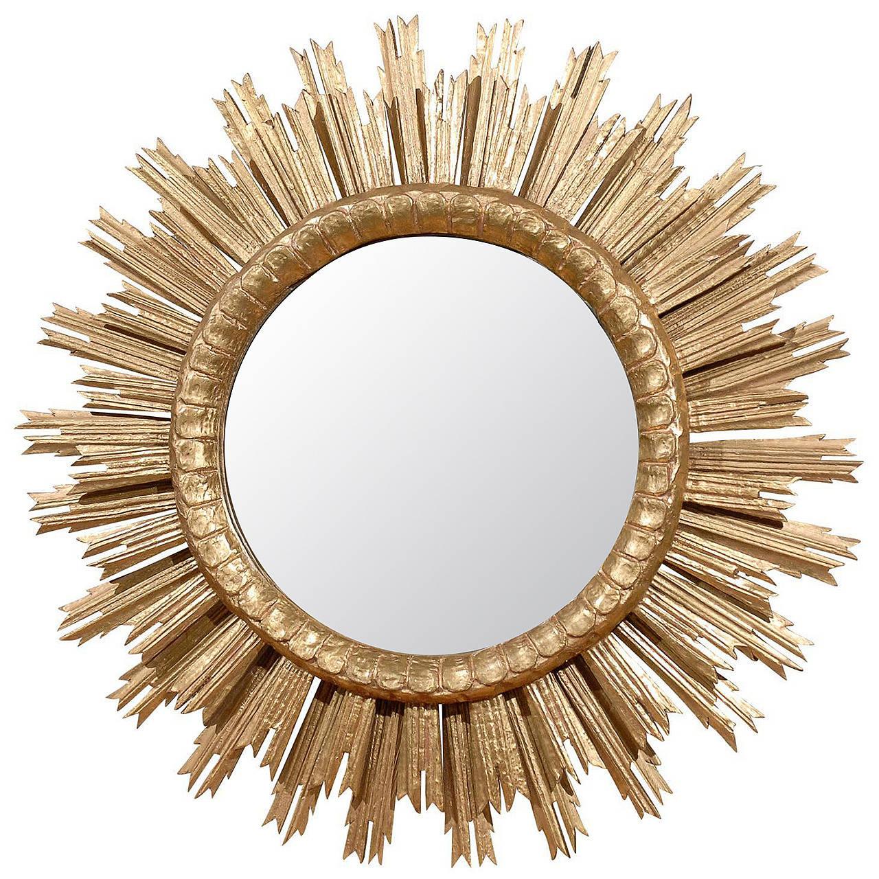 French sunburst mirror at 1stdibs for Sunburst mirror