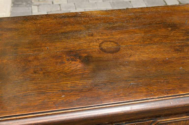 English Mid-19th Century Oak Sideboard with Two Drawers and Lower Shelf For Sale 5