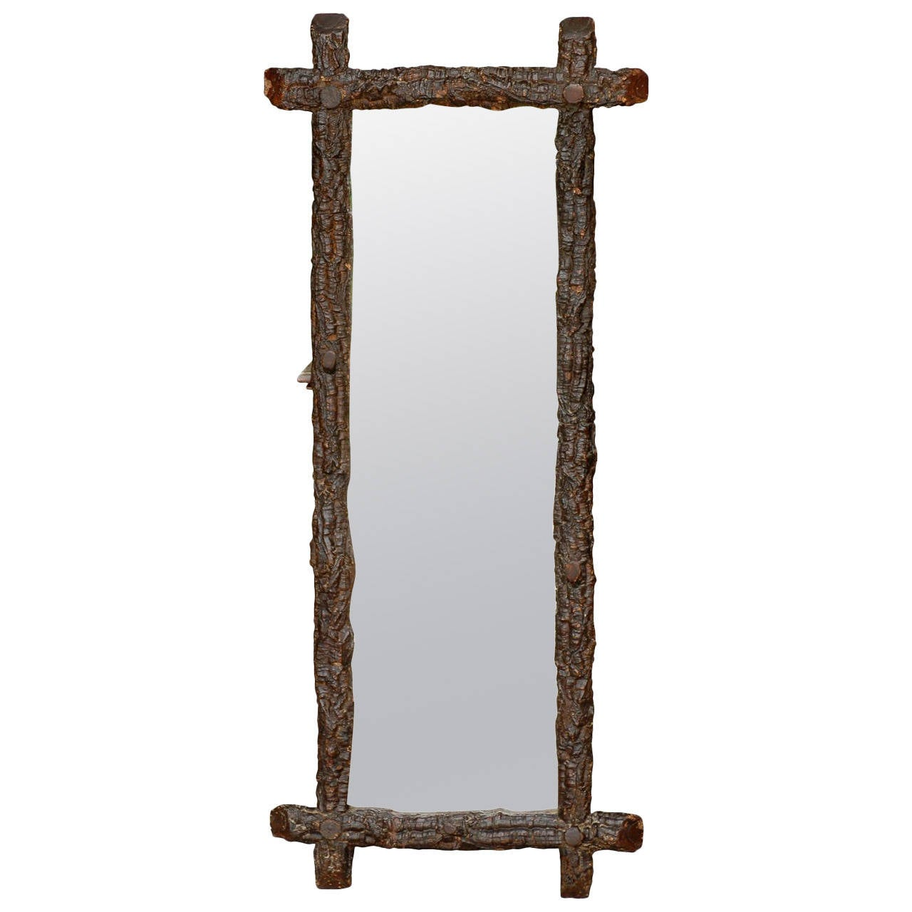 Narrow black forest mirror at 1stdibs for Narrow mirror