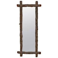 Narrow Black Forest Mirror
