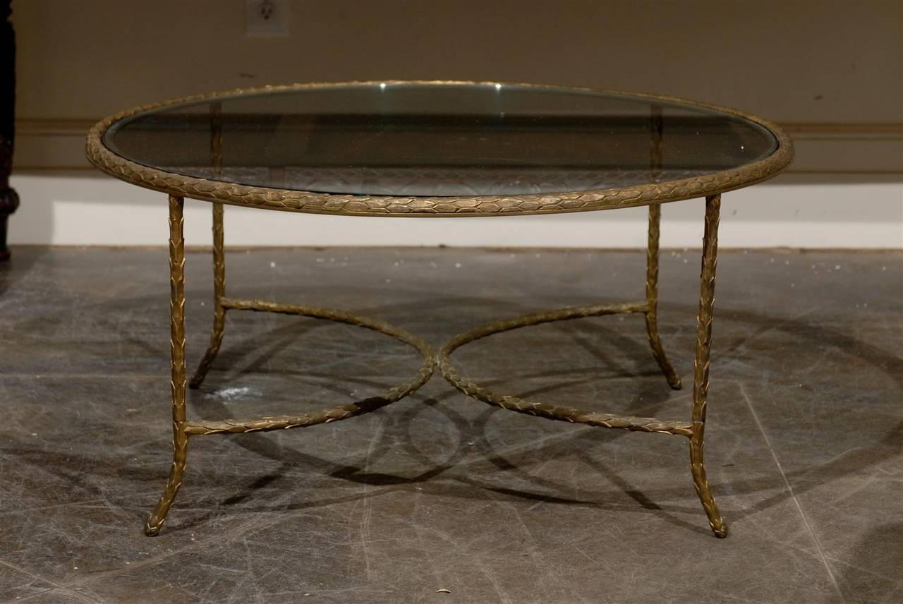 Round Bronze Cocktail Table At 1stdibs