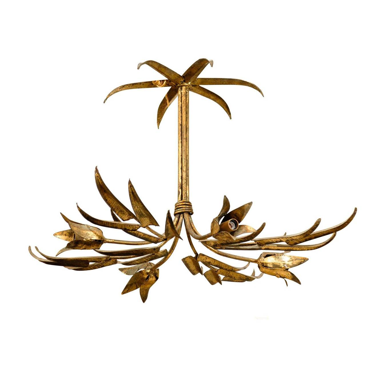 Spanish Gilt Metal Light Fixture at 1stdibs