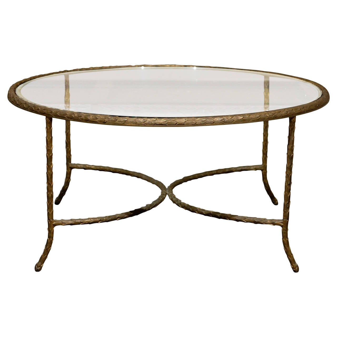 Round bronze cocktail table at 1stdibs Round cocktail table