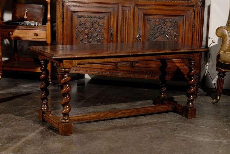 Coffee Table With Barley Twist Legs